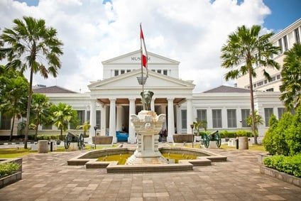 National Museum on Merdeka Square in Jakarta, Indonesia.