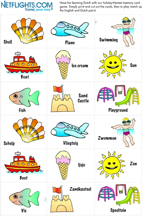 Dutch Memory Cards - Click to download PDF