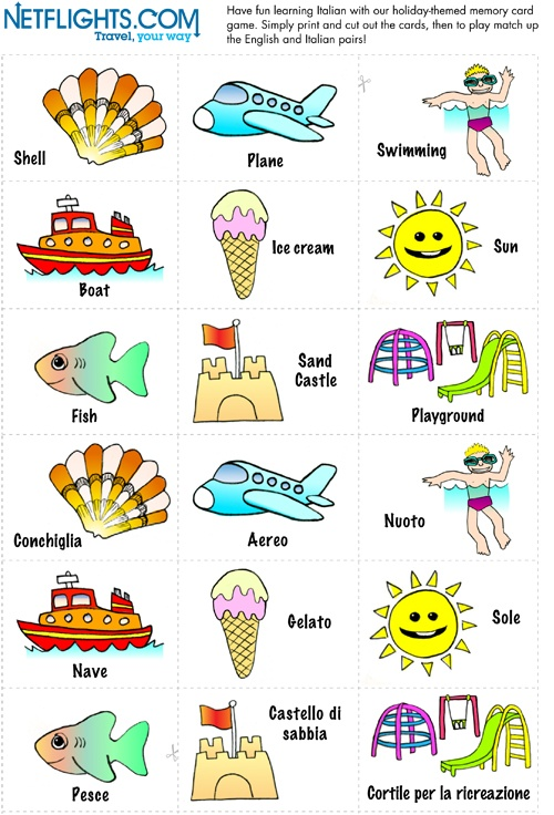 Italian Memory Cards - Click to download PDF