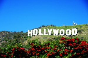Hollywood sign in hill small