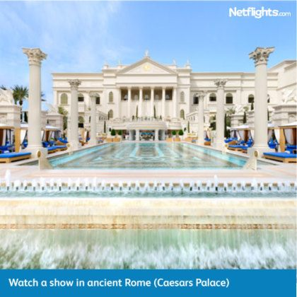 Caesar's Palace Las Vegas with Netflights.com