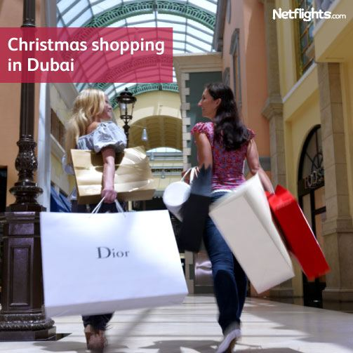 Christmas shopping in Dubai