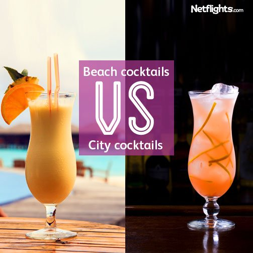 Beach and city cocktails