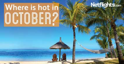 Where is hot in October?