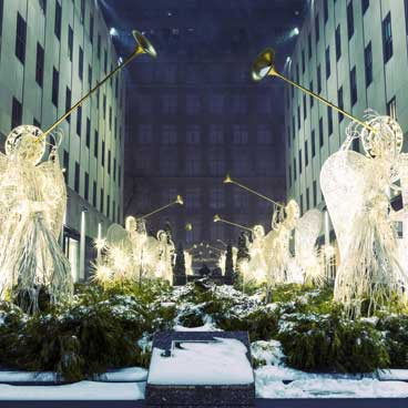 Christmas decorations in New York
