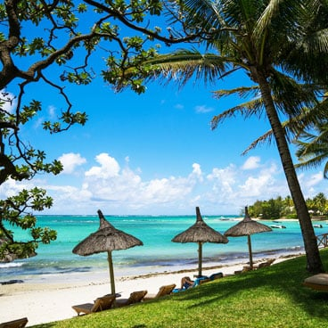 Beachfront in Mauritius