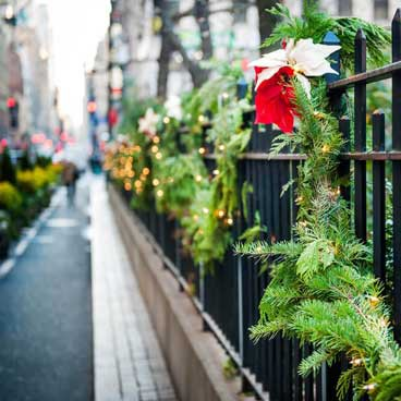 Street decorations in New York