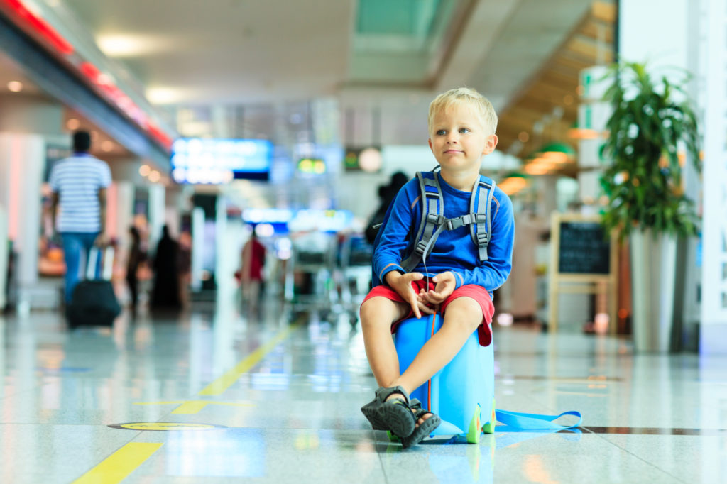 Children flying unaccompanied