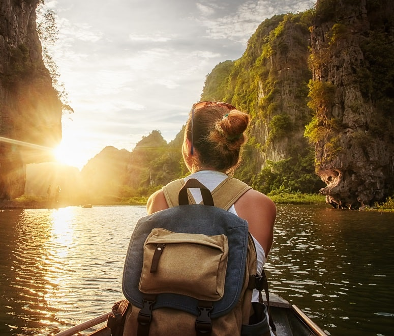 woman exploring thailand