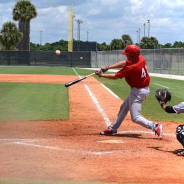 Baseball player in full stride