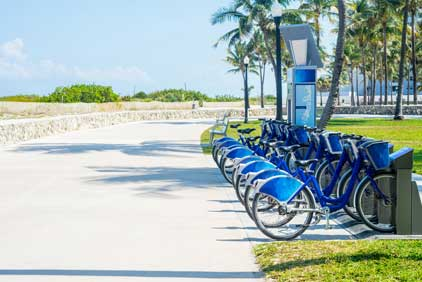 Bicycles for hire in Florida
