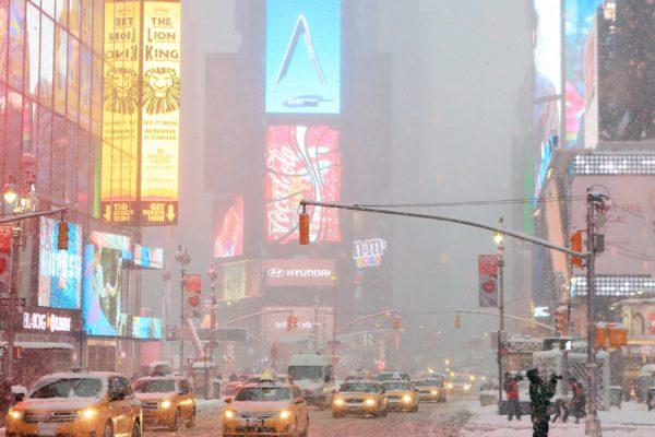 Broadway snow