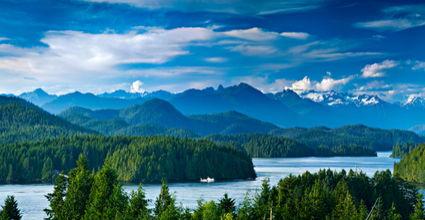 Panoramic view of Tofino Canada