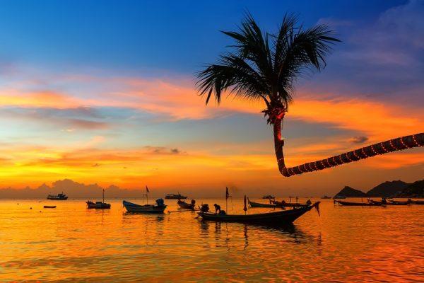Koh Tao Thailand beach sunset