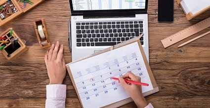 2019 annual leave calendar