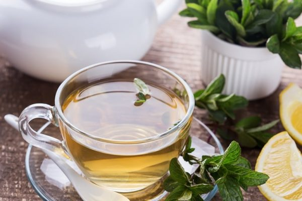 herbal tea before flying