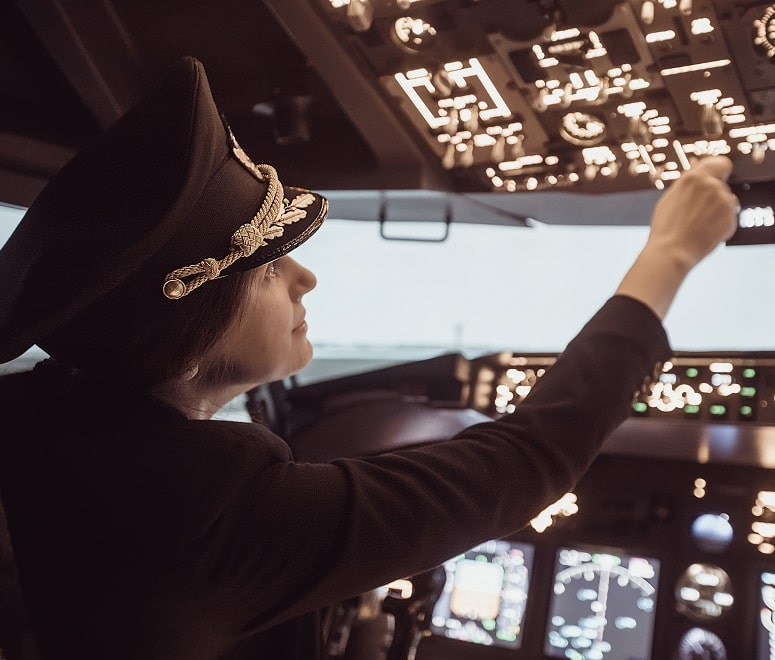 Female airline captain