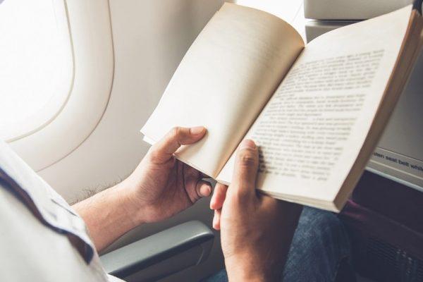 reading on plane