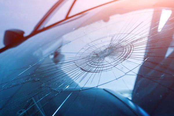 Chipped windscreen