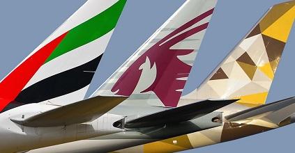 Emirates Qatar Etihad planes