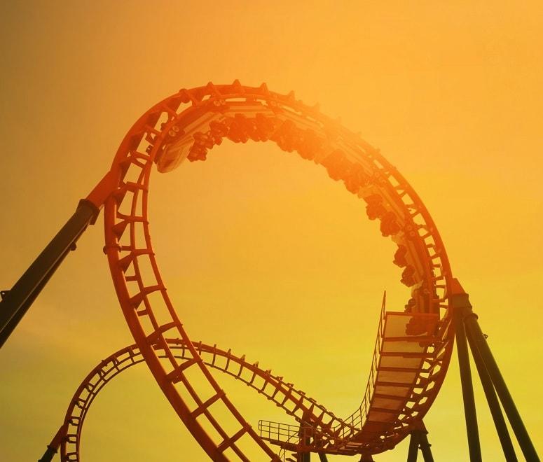 Abu Dhabi rollercoaster