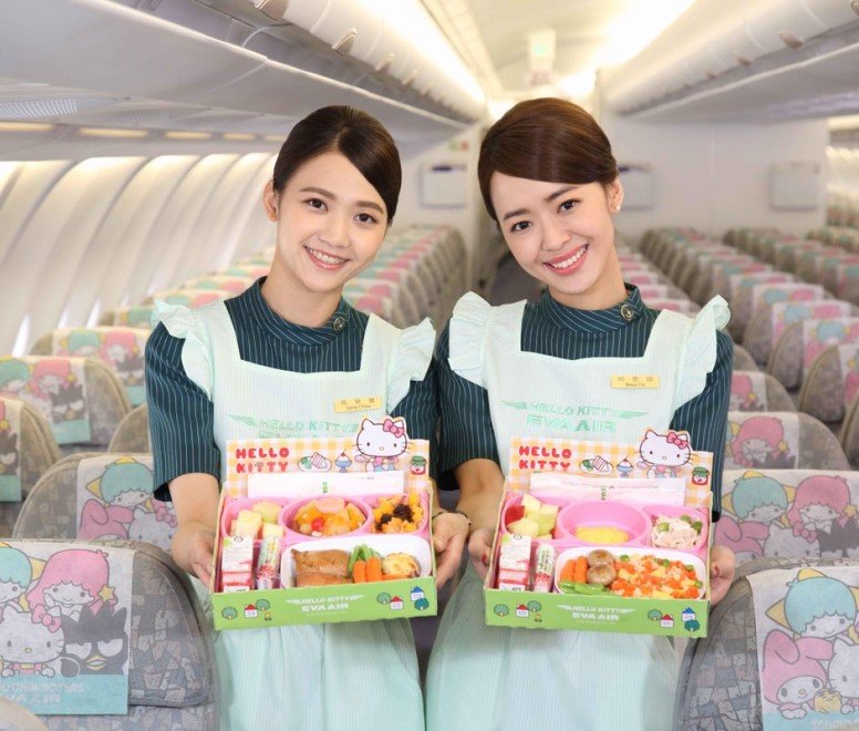 EVA Air Hello Kitty cabin crew