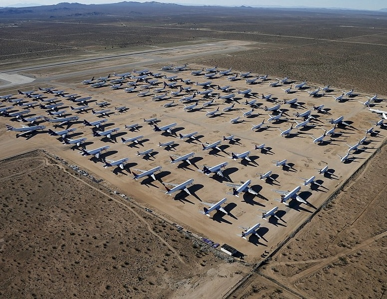 B747 scrapyard, California