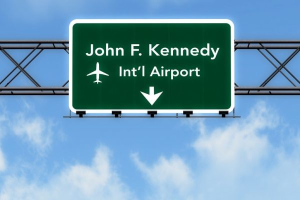 JFK Airport sign