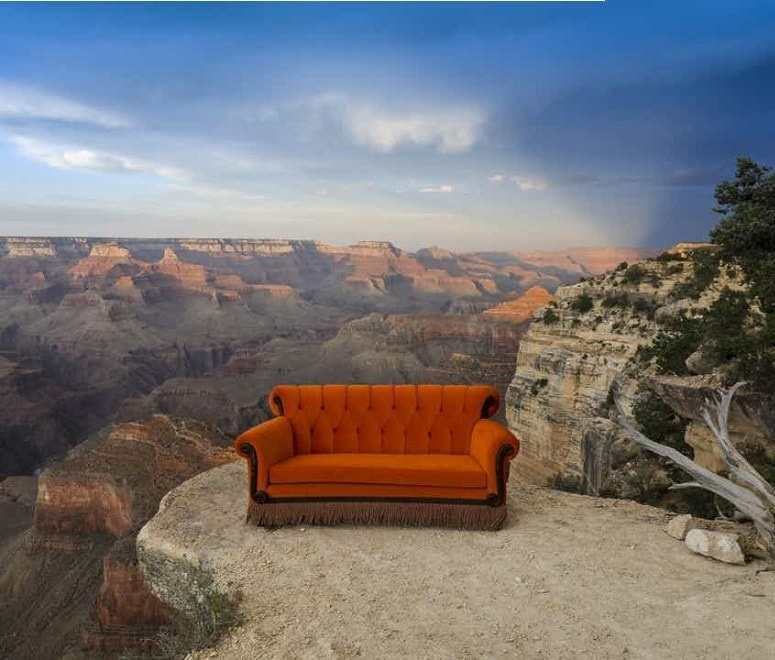 Friends orange sofa grand canyon