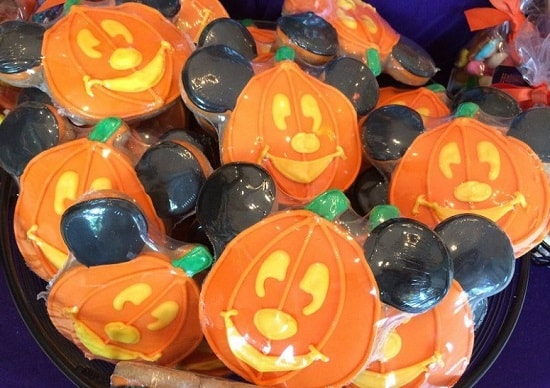 Disney Halloween Mickey Pumpkin Cookies