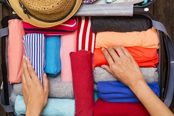Rolling clothes hand luggage