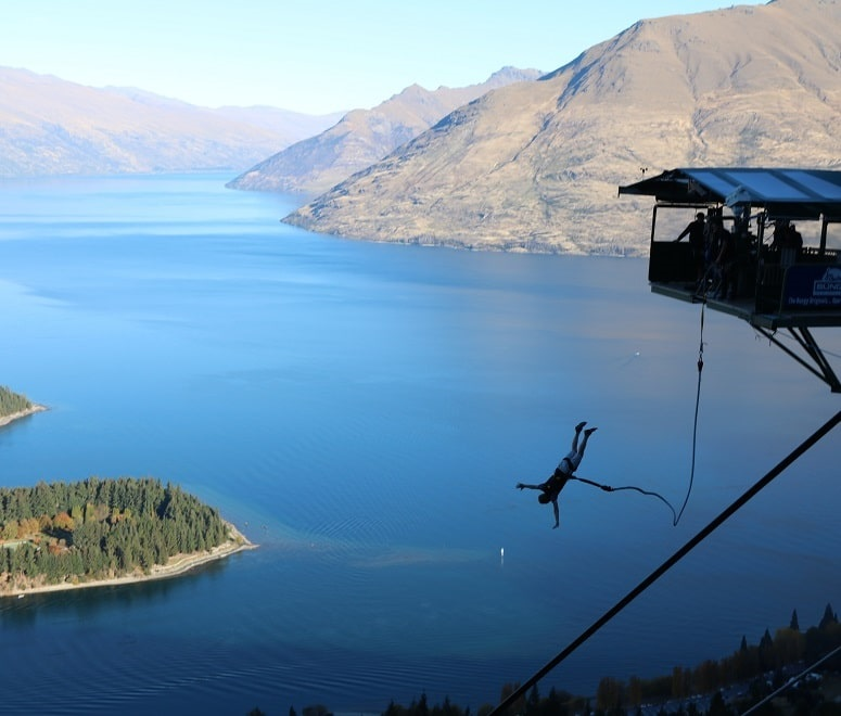 New Zealand bungee jump