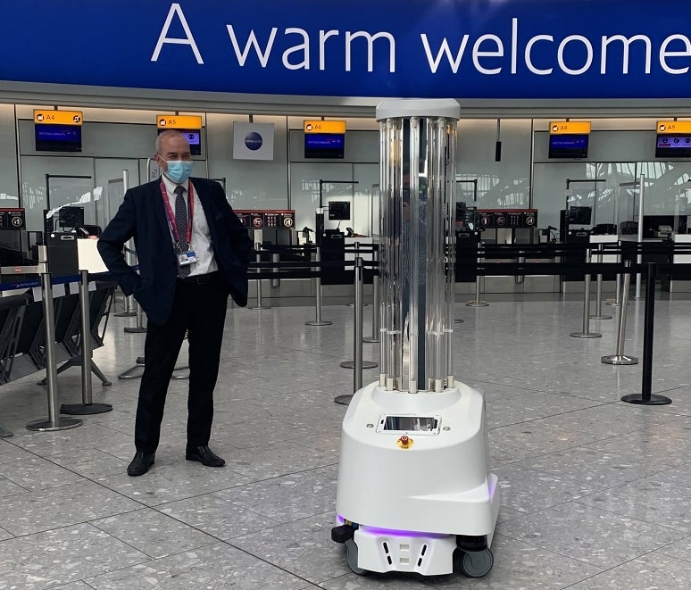 Terminal 5 cleaning robot Victoria