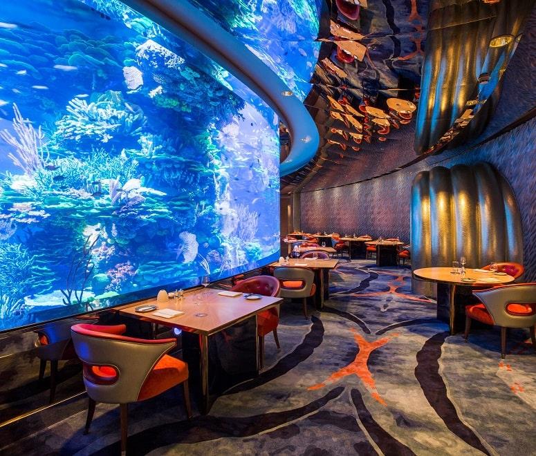 Underwater restaurant Dubai luxury holiday