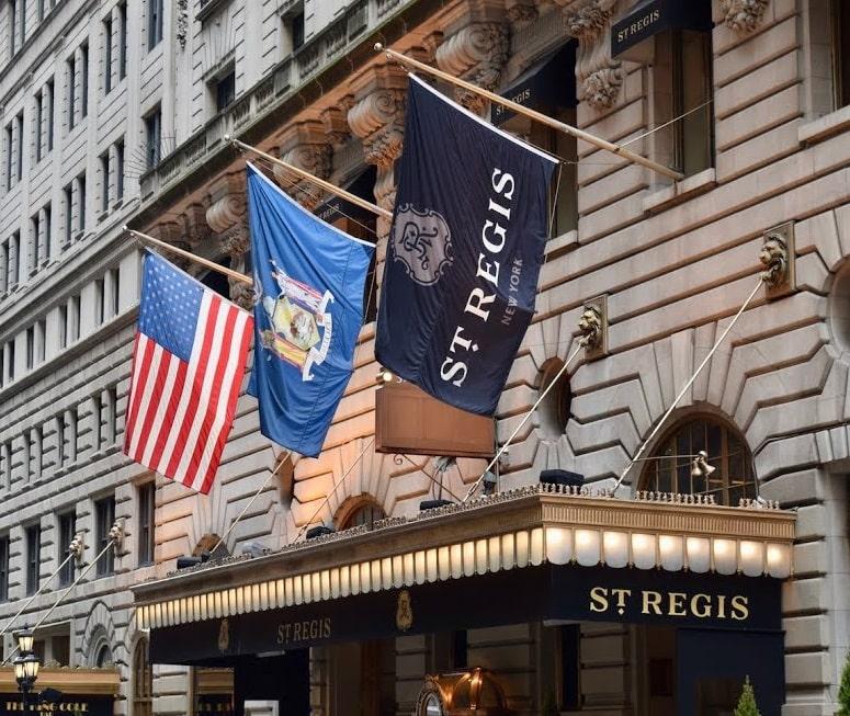 St Regis Hotel New York City
