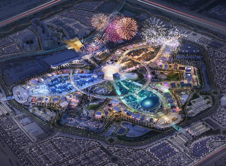 Dubai Expo 2020 at night