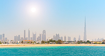 Dubai white sandy beach