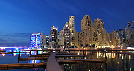 An image of Dubai at night