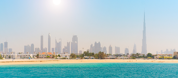Image of a beach in Dubai