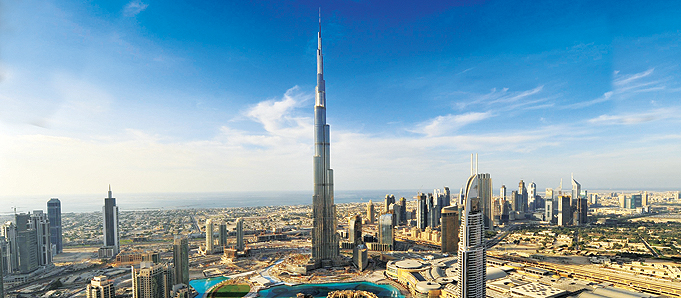 The burj tower in dubai