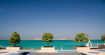 A view of the sea in Abu Dhabi