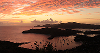 Sunset over Antigua
