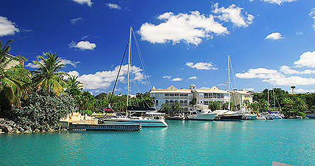 A waterfront in Barbados