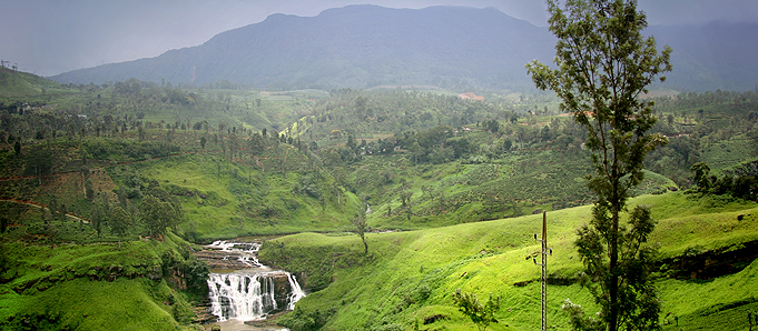 Lush scenery in Sri Lanka