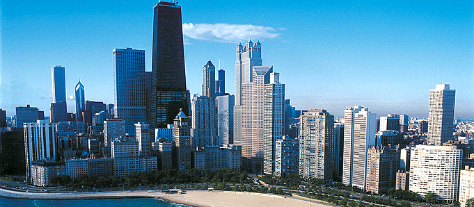 An image of skyscrapers in Chicago