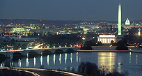 An image of Washington at night
