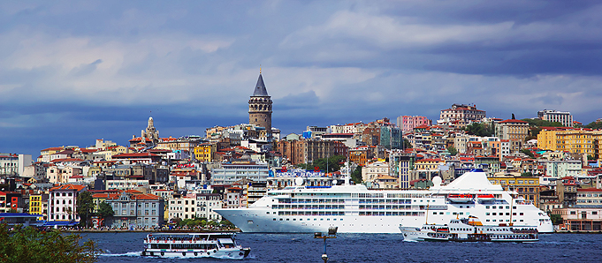 A waterfront view in Istanbul