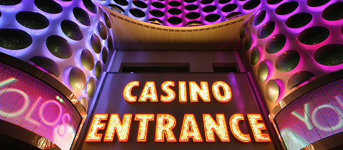 An image of a casino entrance in Las Vegas