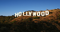 An image of the Hollywood sign in Los Angeles
