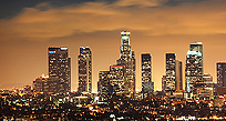 An image of Los Angeles at night